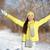 kız · sarı · ceket · kar · doğa · kış - stok fotoğraf © maridav