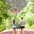 achteraanzicht · twee · jonge · vrouwen · jogging · samen · promenade - stockfoto © maridav