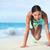 fitness · nina · formación · núcleo · montana · entrenamiento - foto stock © maridav