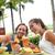 paar · zomervakantie · dranken · gelukkig · Hawaii - stockfoto © maridav