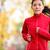 nő · futó · képzés · maraton · női · rózsaszín - stock fotó © maridav