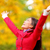 autumn fall woman happy in free freedom pose stock photo © maridav