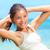 vrouw · oefening · witte · meisje · handen · glimlach - stockfoto © maridav