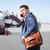 homem · falante · telefone · móvel · avião · sorrir · paisagem - foto stock © maridav