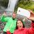 couple taking selfie smartphone picture waterfall stock photo © maridav