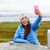 woman outdoors using smart phone taking selfie stock photo © maridav