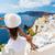 turist · görmek · köy · santorini · adası · kadın - stok fotoğraf © Maridav