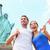 heykel · özgürlük · ada · mavi · gökyüzü · New · York - stok fotoğraf © maridav