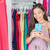 shopping girl taking mirror selfie in home closet stock photo © maridav