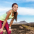 tired focus and determination trail running woman stock photo © maridav