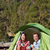 camping people   couple eating in tent happy stock photo © maridav