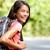 smiling young asian chinese backpack girl student stock photo © maridav