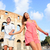 travel couple in rome by colosseum running fun stock photo © maridav