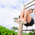 vrouw · atleet · abdominaal · spieren · gymnasium - stockfoto © maridav