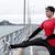 atlet · adam · akıllı · izlemek · kalp · hızı - stok fotoğraf © maridav