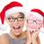 アジア · 若い女性 · 着用 · サンタクロース · 帽子 · 見える - ストックフォト © maridav