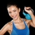Fitness cross fit woman holding kettlebell stock photo © Maridav