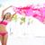 praia · mulher · cachecol · feliz · livre - foto stock © maridav