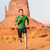 trail running man   male runner in monument valley stock photo © maridav