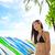 város · szörf · nő · szörfös · szörfdeszka · Waikiki - stock fotó © maridav