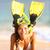 beach holiday vacation woman snorkeling fun stock photo © maridav