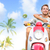 free young couple on scooter on summer vacation stock photo © maridav