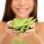 asiático · mulher · fresco · framboesas · mãos - foto stock © maridav