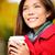 autumn woman drinking coffee in fall city park stock photo © maridav