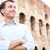 young casual business man colosseum rome italy stock photo © maridav