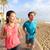 çalışma · çift · jogging · Barcelona · plaj - stok fotoğraf © maridav