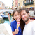 couple in venice eating ice cream taking selfie stock photo © maridav