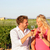 red wine drinking couple toasting at vineyard stock photo © maridav