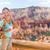 escursionista · protezione · solare · donna · escursioni · lozione · esterna - foto d'archivio © maridav