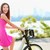 女性 · 若い女の子 · バイク · 屋外 · 笑顔の女性 · 笑みを浮かべて - ストックフォト © maridav