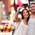 couple taking smartphone selfie in new york nyc stock photo © maridav