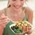 woman eating local hawaii food poke bowl salad stock photo © maridav