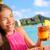 ital · tengerpart · bár · közelkép · alkoholos · ital · barátok - stock fotó © maridav