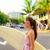 szörfös · nő · szörfözik · Waikiki · tengerpart · Hawaii - stock fotó © maridav
