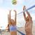 amigos · jogar · praia · voleibol · esportes · verão - foto stock © maridav