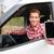 smart phone man in car driving showing smartphone stock photo © maridav