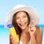 bronzeado · loção · mulher · protetor · solar · sorridente - foto stock © maridav