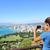 Honolulu · néz · ki · Waikiki · tengerpart · gyémánt - stock fotó © maridav