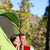 camping couple in tent romantic looking at view stock photo © maridav