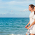 holiday couple relaxing walking on beach stock photo © maridav