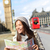 красный · удвоится · автобус · Лондон · занят · улице - Сток-фото © maridav