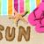 dourado · estrela · enterrado · verão · areia · da · praia · férias - foto stock © maridav