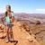 kadın · tırmanma · kaya · dağ · kız · mutlu - stok fotoğraf © maridav