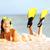 water snorkeling fun beach woman laughing stock photo © maridav