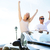 happy people in car driving on road trip stock photo © maridav