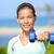 Asya · fitness · woman · model · ayakta · spor · salonu - stok fotoğraf © maridav